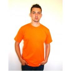 Футболка однотонная оранжевая