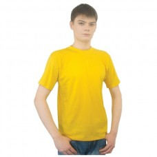 Футболка Лидер однотонная желтая