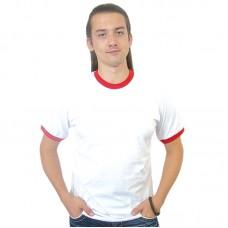 Футболка белая с красными вставками Рингер