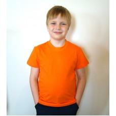 Футболка детская однотонная оранжевая